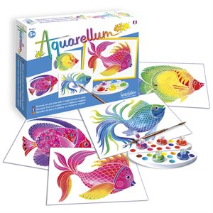 Aquarellum: Magic Canvas Junior Fish (Multi) (No Amazon Sales)