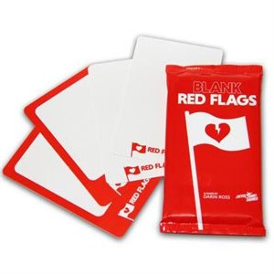Red Flags: Blank Cards (No Amazon Sales)