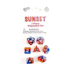 Transparent: 7Pc Polyhedral Sunset