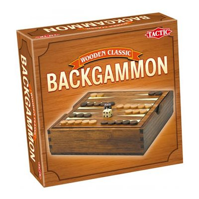 Backgammon In Handy Wooden Box