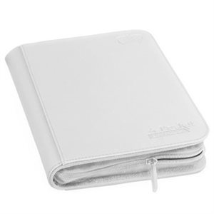 Binder: 4-Pocket Zipfolio Xenoskin White