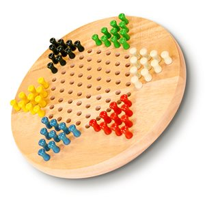 """Chinese Checkers 7"""" Wooden w / pegs"""