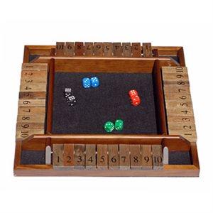 Shut The Box 4 Player Wooden