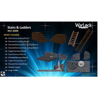 Dungeons & Dragons: WarLock Tiles Stairs & Ladders ^ JUN 30, 2020