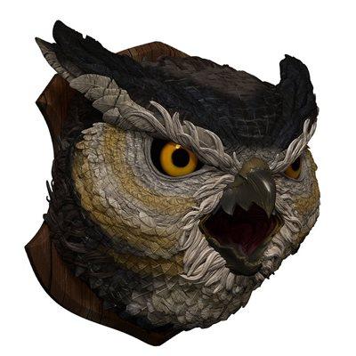 D&D Owlbear Trophy Plaque
