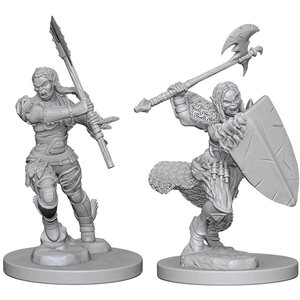 Pathfinder Deep Cuts Unpainted Miniatures: Wave 1: HalfOrc Female Barbarian
