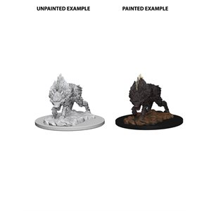 Pathfinder Deep Cuts Unpainted Miniatures: Wave 4: Dire Wolf