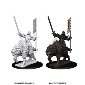 Pathfinder Battles Deep Cuts Unpainted Miniatures: Wave 7: Orc on Dire Wolf