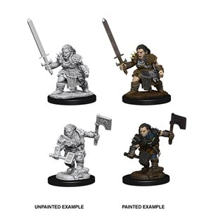 Pathfinder Deep Cuts Unpainted Miniatures: Wave 8: Female Dwarf Barbarian