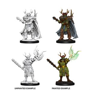 Pathfinder Deep Cuts Unpainted Miniatures: Wave 10: Male Half-Orc Druid
