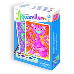 Aquarellum: Magic Canvas Mini Cats (Multi) (No Amazon Sales)
