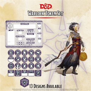 Dungeons & Dragons: Warlock Token Set (Player Board & 22 tokens) ^ Q4 2020