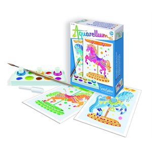 Aquarellum: Magic Canvas Mini Horses (Multi) (No Amazon Sales)