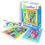 Aquarellum: Magic Canvas Mini Elephants (Multi) (No Amazon Sales)