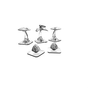 Monsterpocalypse: Destroyers Martian Menace: Saucers, Power Pods & Hunter (resin)