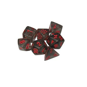 Translucent: 7pc Smoke / Red