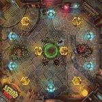 Riot Quest: Thunderhead Fortress Fabric Playmat